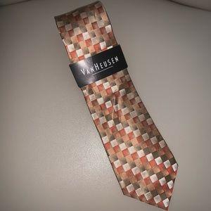 Van Heusen Gold and orange Tie NWT